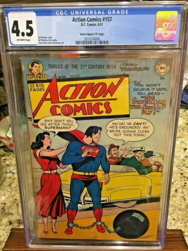 Action Comics (DC) #157 1951 CGC 4.5 2010376005 Davis Crippen