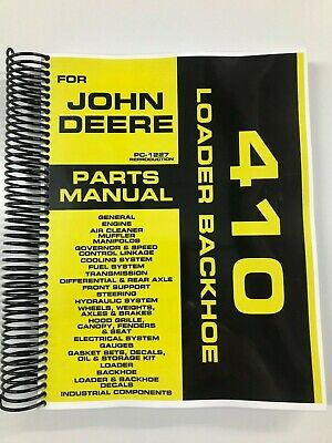 Parts Manual For John Deere 410 Backhoe Loader Assembly Manual Pc-1227