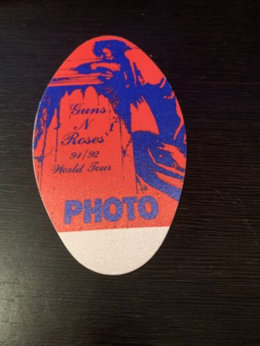 GUNS N ROSES 1991 -1992 TOUR Photo Pass - $7.50