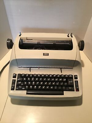 Vintage Ibm Selectric Electric Typewriter With Cover-ivory As Is Local Pick Up