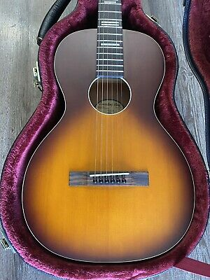 Recording King Dirty 30's Parlor Acoustic Guitar w/ Case Red Sunburst