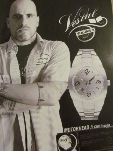 Dry Kill Logic, Cliff Rigano, Vestal Watches,  Full Page Promotional Ad