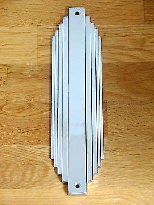 CHROME ART DECO DOOR PLATE FINGER PUSH FINGERPLATE HANDLES KNOBS
