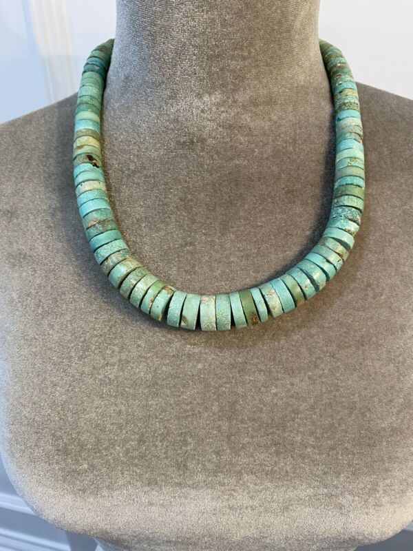 Vintage Turquoise Heishi Necklace
