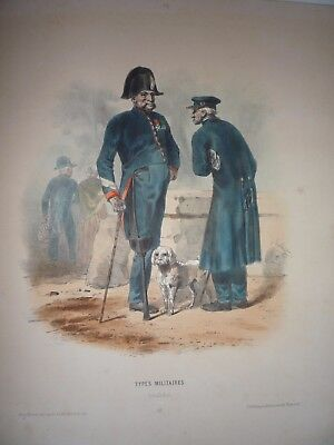 """F-H. LALAISSE. """" TYPES MILITAIRES, INVALIDES ."""" VERY RARE. 1855."""