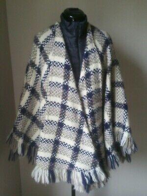Vintage Branigan Weavers Irish Wool Cape Poncho 90% Wool Tweed Ireland