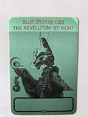 RARE Blue Oyster Cult Revolution By Night Tour Unused Satin Backstage Pass Metal