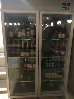 Commercial glass door fridge
