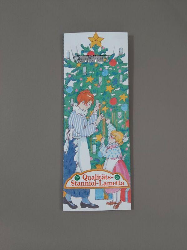 Vintage German Christmas Tree Tinsel Qualitats Stanniol Lametta Silver Metal NOS