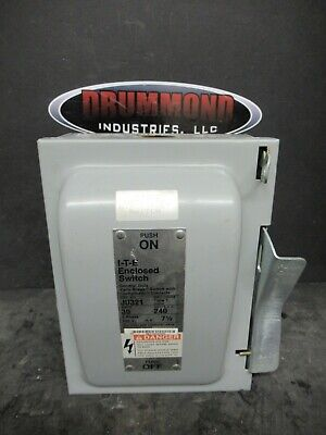 Siemens Ite 30 Amp 240 Vac Heavy Duty Disconnect Safety Switch Ju321