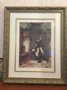 "Picture Frame ""girl knocking on door"""