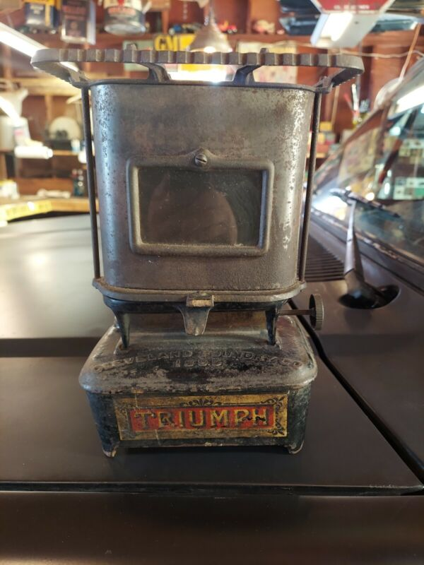+ Antique Cleveland Foundry Co. PURITAN No. 1 Sad Iron Kerosene Stove 1891 Pat +
