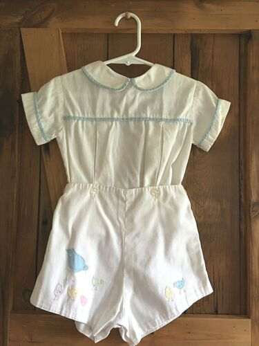 Betti Terrell Vintage toddler romper clothes, boys