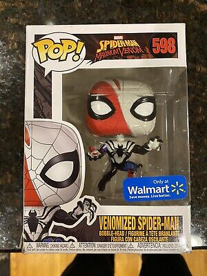 FUNKO POP MARVEL MAXIMUM VENOM #598 VENOMIZED SPIDER MAN WALMART Damaged Box 2