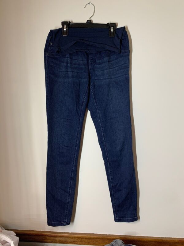 Indigo Blue Maternity Skinny Jeans Full Panel size Small