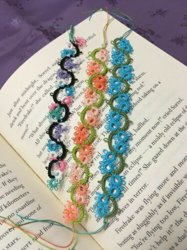 Sets of Three Tatted Lace Bookmarks