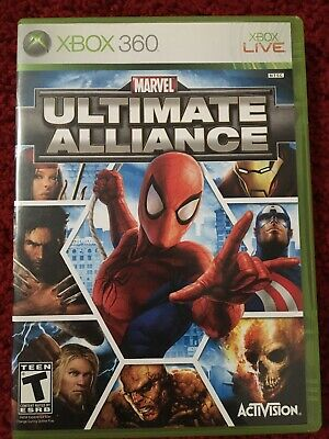 Marvel Ultimate Alliance Xbox 360 FAST SHIPPING Spider-man Iron Man near mint