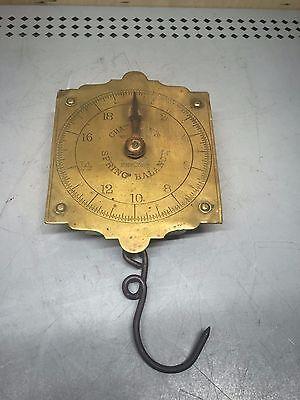 Spring Balance Scale - Vintage Large Chatillon Brass Scale Spring Balance 20LB Chatillion's