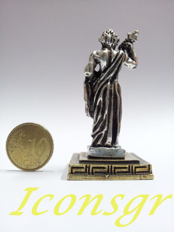 Ancient Statue Demeter  Miniature Greek Olympian God Pantheon Sculpture Zamac S