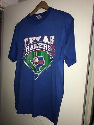 Arch Logo Vintage T-shirt (Vintage 1988 Trench Texas Rangers Graphic T-Shirt Big Logo USA Made Arch Logo)