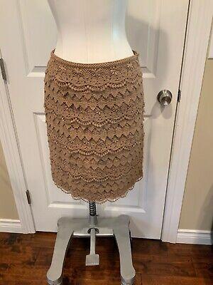 "J. Mclaughlin Light Brown ""Sadie Layered Lace"" Pencil Skirt, Size 0, NWT"