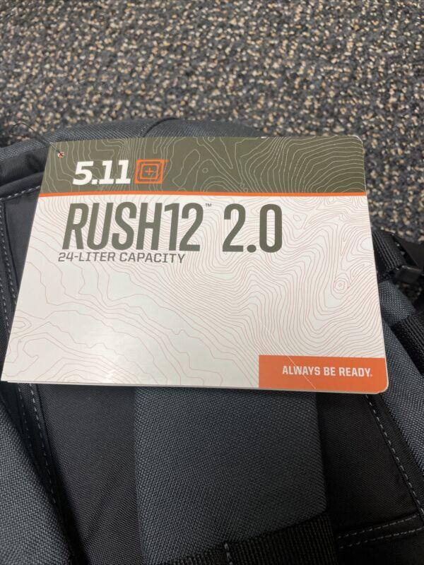 5.11 Tactical RUSH12 Tactical Backpack, 24 L Capacity - Black