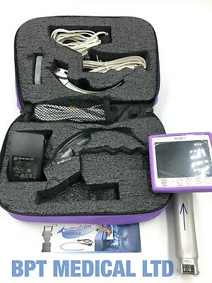 Intubrite Vls6600 Video Laryngoscope System In Carry Case Battery And More.