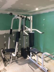 Weirder 3 station home gym