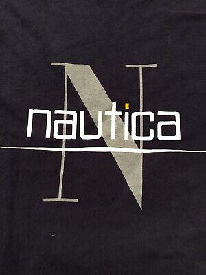 Nautica T-shirt Logo, Black, 100% Cotton, Men XL