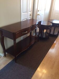 Hall/sofa table and matching side tables