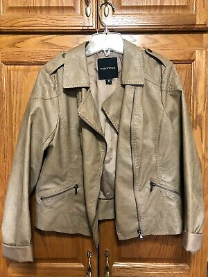 Maurices Faux Leather Jacket Size 0 (runs larger)