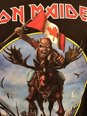 IRON MAIDEN - CANADA 2012 Maiden England tour Official shirt XL  (Vancouver BC)