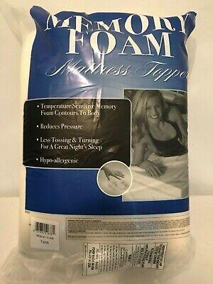 Memory Foam Mattress Topper Twin 1 inch Thick Hypo-allergenic, Hypoallergenic