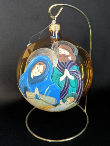 Trimsetter by Dillards Hand Blown Painted Nativity Ornament, Made in Italy, NIB