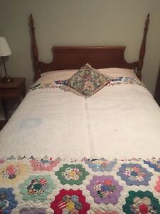 Antique 4 poster double bed   mattress included