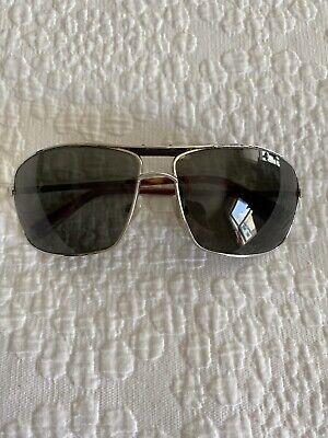 GIORGIO ARMANI Mens Luxury SUNGLASSES Silver Frame Aviator Giorgio Armani Mens Metal Sunglasses