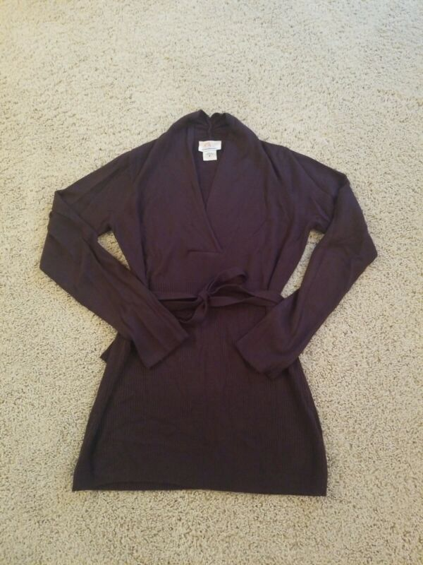 Oh Baby Purple Maternity Sweater, Size Small