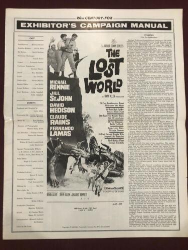 LOST WORLD 1960 MOVIE POSTER EXHIBITOR CAMPAIGN PRESSBOOK Sci-Fi Dinosaurs