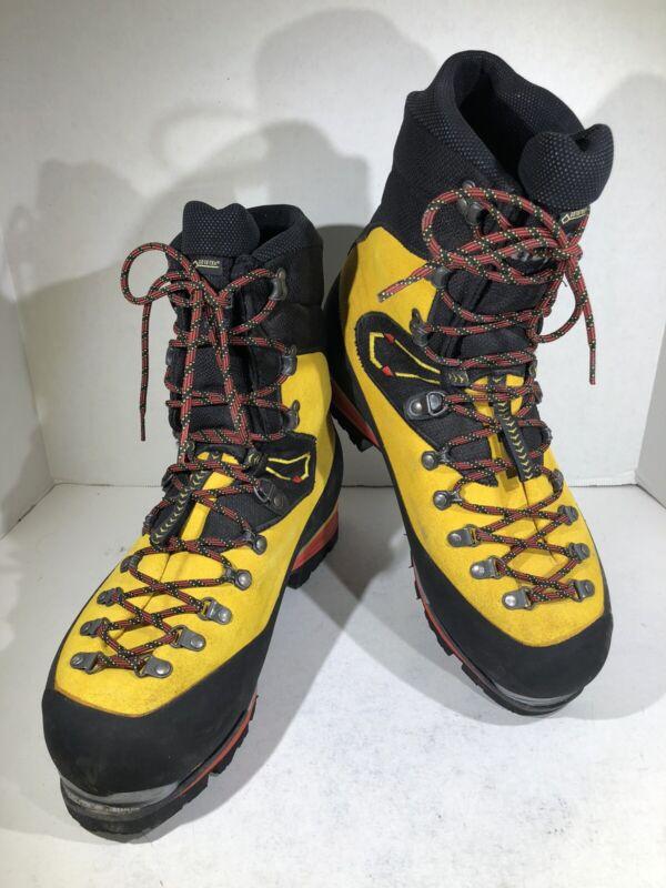 La Sportiva Nepal Cube GTX Mens Sz 11 Yellow Leather Mountaineering Boots H1-219