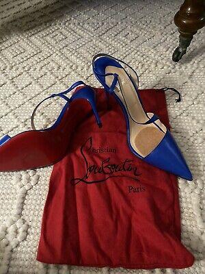 NEW Christian Louboutin Blue High Heel Shoes Stilettos Woman's Size 41