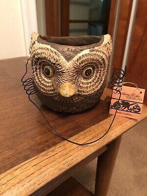 Halloween Owl Basket Bethany Lowe Designs Tag