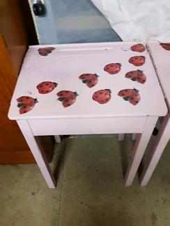 Antique student desks