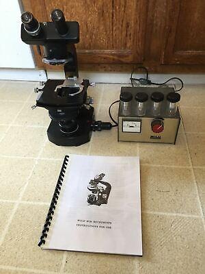 Wild Heerbrugg M20 Phase Contrast Binocular Microscope - Complete 102040100