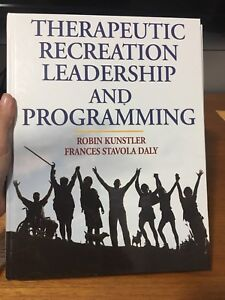 Therapeutic recreation leadership and programming textbook