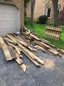 Free scrap cedar decking wood
