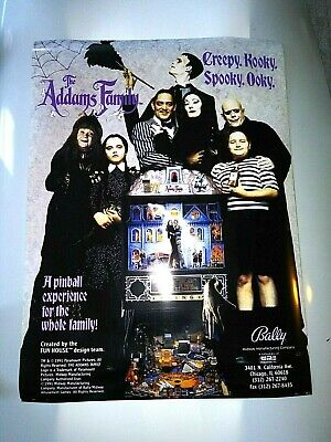 Bally The Addams Family Pinball Poster (18 x 24)