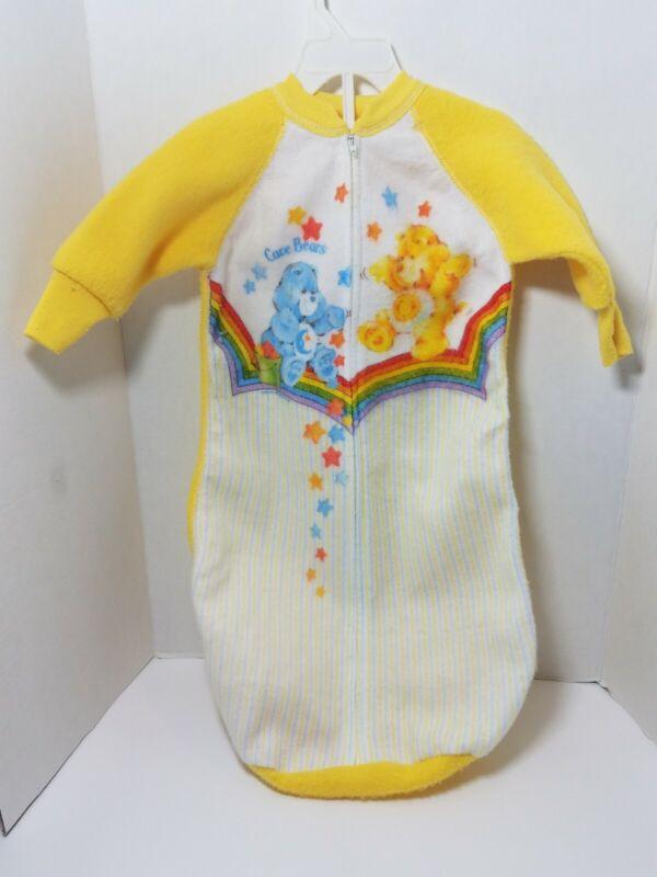 Vtg 80s Care Bears Infant Baby Sack Sleeper Fleece American Greetings Bedtime