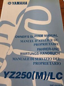 Yamaha YZ250(M)/LC Owners Service Manual