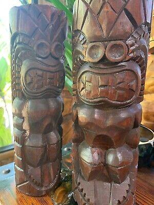 New DAMAGED SECONDS KU Tiki Torch set of 2 Smokin' Tikis Hawaii