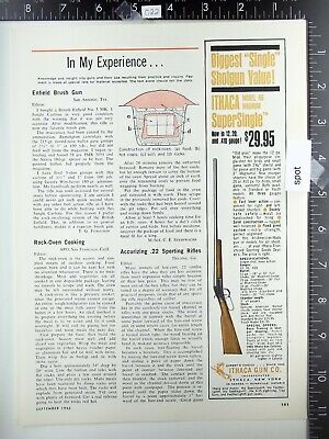 1965 Ithaca Gun Co. NY Model 66 SuperSingle shotgun vintage advertisement m-66